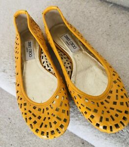 Jimmy Choo Yellow SLIP ON Shoes SZ 10 40 NEW