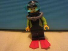 Lego Deep Sea Diver Mini figure, (2 faces)  Free post