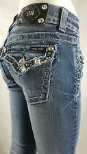 MISS ME JEANS STUDDED SIZE 26 BOOT CUT
