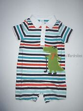 Gymboree Plaids and Alligators Polo One-piece Romper 18-24 months Twins NEW NWT
