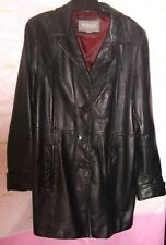 200.00 WILSONS LEATHER jacket LINED BUTTON TRENCH SUIT coat LINING WEAR