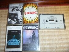 LOT 5 CASSETTE TAPES METAL RARE SCORPIONS LOVEDRIVE LOVE AT FIRST STING BEST OF