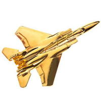 F15 Eagle Tie Pin - Gold Plated F-15 Tiepin Badge