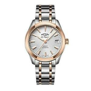 Rotary Women's Automatic Silver Dial Analogue Display and Two Tone Stainless Ste
