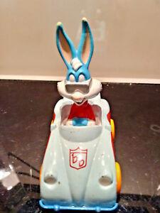 """1990 PLAYSKOOL Tiny Toon Adventures - """"BUSTER BUNNY"""" Diecast Race Car Toy"""