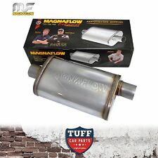 "Magnaflow Stainless Steel 2.25"" Muffler Oval Body 16"" x 8"" x 5"" Centre Offset"