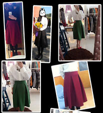 Unbranded Solid Regular Size Maxi Skirts for Women
