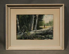 American Hunting seen framed beautiful and colorful watercolor hunter and dog