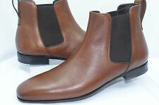 New Salvatore Ferragamo Men's Boots Maestrale Shoes Ankle Brown Size 8 D Leather