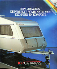 KIP Grey-Line De Luxe Kompakt caravans Dutch market 1988 brochure + price list
