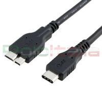 Cavo da 0,5 a 1,8m USB 3.1 type C 2.0 MICRO tipo B per Samsung dati pc hard disk