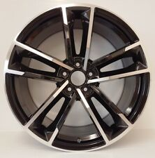 "4 x 20"" ALLOYS BLACK & POLISH Wheels FITS:AUDI,PORSCHE, VW TOUAREG,5/130"