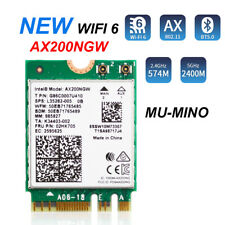 Intel WiFi 6 Card AX200 NGFF M.2 Bluetooth 5.1 Desktop with Antenna Cable Module