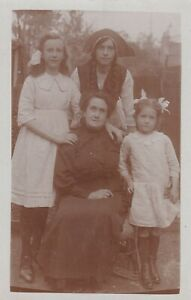 OLD PHOTO WOMEN FANCY DRESS FASHION CHILDREN GIRL W6