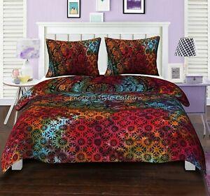 Boho Mandala Duvet Cover King Queen Size Bohemian Bedding Set Bedspread throw