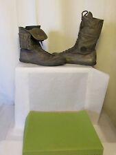 boots/bottines pataugas cuir et daim kaki 40