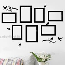 7x Photo Frames Birds Wall Stickers Wall Art Removable for photo 4''x6''/5''x7''