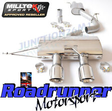 "Milltek Golf MK6 R Exhaust 3"" Race System Cat Back Res NON VALVE Polish SSXVW221"