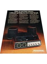 1971 Panasonic Stereo -  Vintage Advertisement Print Ad J417