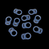 10 Pcs Clear Silicone Button Ring Dummy / Pacifier Holder Clip Adapter MW