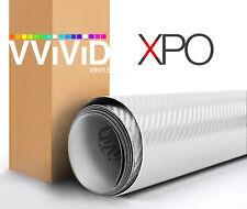 VVIViD Dry White Carbon Fiber car wrap Vinyl 50ft x 5ft decal 3ml repositionable