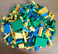 Genuine Lego 500g Mixed Yellow Green Blue Bricks Plates Parts Joblot Bundle