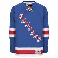 New Men's REEBOK NHL PREMIER JERSEY Blue New York Rangers