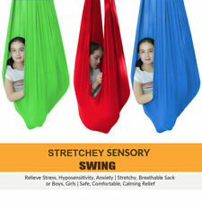 Indoor Therapy Sensory Swing Cuddle Hammock with Autism ADHD Aspergers for Kids