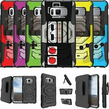 For Samsung Galaxy S8 PLUS SM-G955 Kickstand & Holster Combo Case-Retro