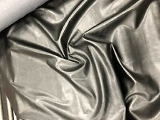 BLACK SOFT CLOTHING PVC FABRIC Leatherette Upholstery Faux Leather Dress Vinyl
