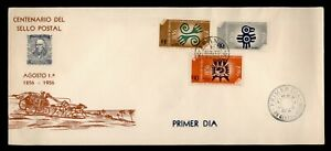 DR WHO 1956 MEXICO FDC STAMP CENTENARY CACHET COMBO  g12298