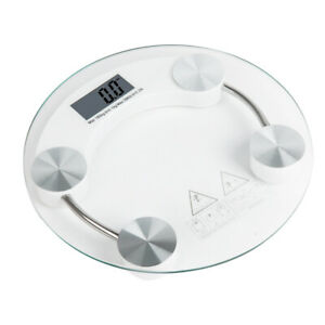180KG Digital Electronic LCD Personal Glass Body Weight Weighing Scales UK