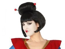 Perruque Noire GEISHA Déguisement Chinois Femme Costume Japonaise Chinoise