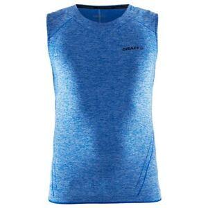 Funktionsshirt Trägershirt Singlet CRAFT Active Comfort, Herren, ärmellos, blau
