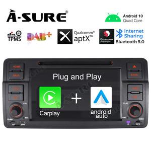 2+32G Android Auto 10 Carplay DSP BT5 Autoradio DVD GPS Navi für BMW E46 318 320