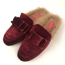 Catherine Malandrino Burgundy Red Soft Mules Size 7.5 Slip On Loafer Slippers
