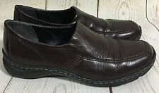 Rieker Antistress Dark Brown Leather Loafers Shoes Size 37 6.5