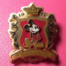 DISNEY PIN - MICKEY MOUSE Crest Classic 1971 Walt Disney World Logo