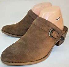 American Eagle Outfitters Wos Shoes Mules US 6 Brown Suede Slip-On Western T24