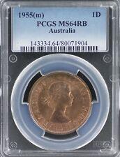 1955(m) Penny PCGS MS64RB