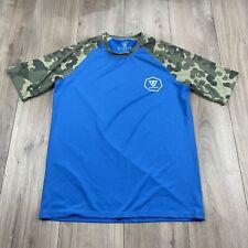 Vissla Short Sleeve Camouflage Athletic T Shirt Surfing Men's Size L Large