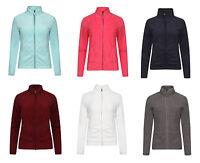 Womens, Ladies Classic Full Zip Fleece Jumper, Active Gym Running, Fleece Jacket