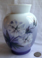 """Royal Copenhagen Vase 1960 White Flowers 2667/36 Denmark Signed NAX 6 5/8"""" Tall"""