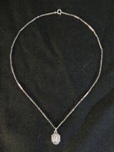 Chaine avec pendentif vierge Marie en ARGENT MASSIF