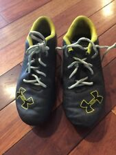 Youth Under Armour Soccer athletic cleats 2y kids shoes Black Yellow