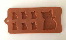 Cat Kitten Silicone Ice Tray Chocolate Mold Baking NEW