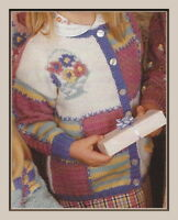 """Sweater, Cardigan, Hat and Mitts Knitting Pattern in DK Girls & Boys 20-28"""" 1005"""