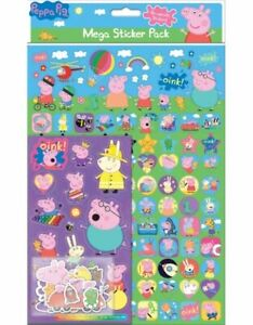 PEPPA PIG Mega Pack of Stickers, Loads of Different Stickers A4 Size