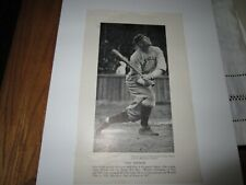 Tris Speaker 5x8 1/2 blank back B&W paper photo