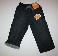 NEW Gymboree Buffalo Lodge Fleece Lined Denim Jeans NWT 6 12 18 24 Months 2T